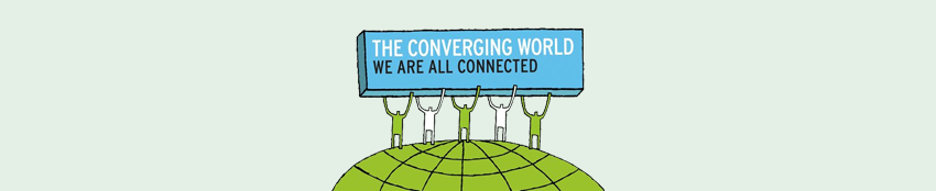 The Converging World, We Are All Connected Logo
