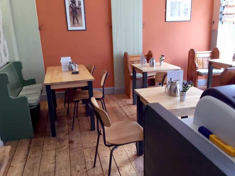 Café Fika interior in Forres