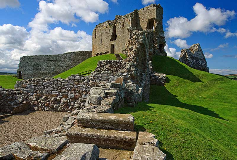 Beautiful Duffus Castle in Moray, Scotland