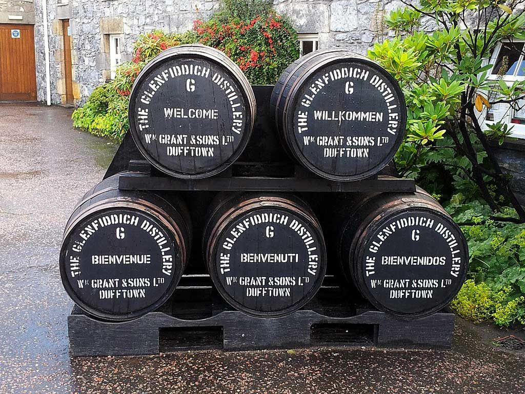 Moray Firth Tours - Glenfiddich Distillery Whisky Barrels