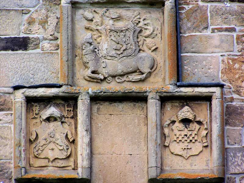 The three bishops who played a part in the building of the tower house