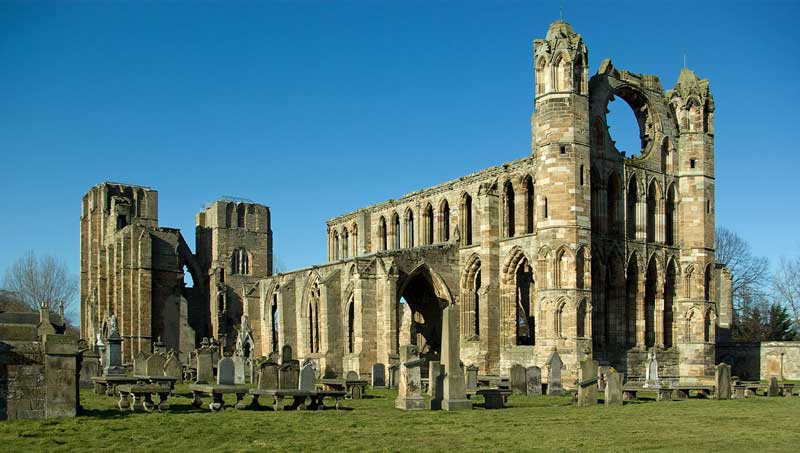 Parts of Elgin Cathedral remain intact today, despite its rich history