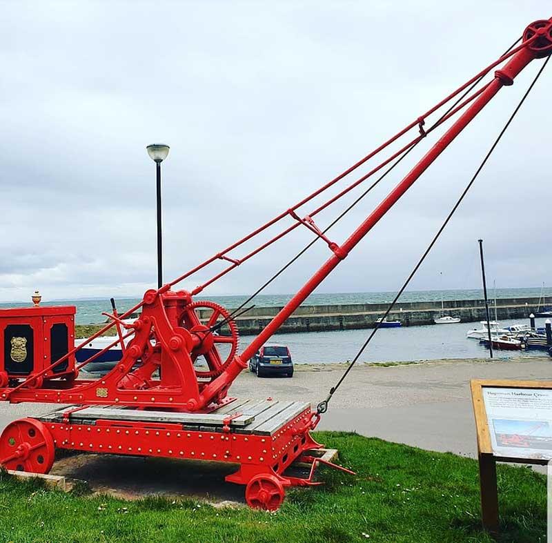 Hopeman Harbour Crane