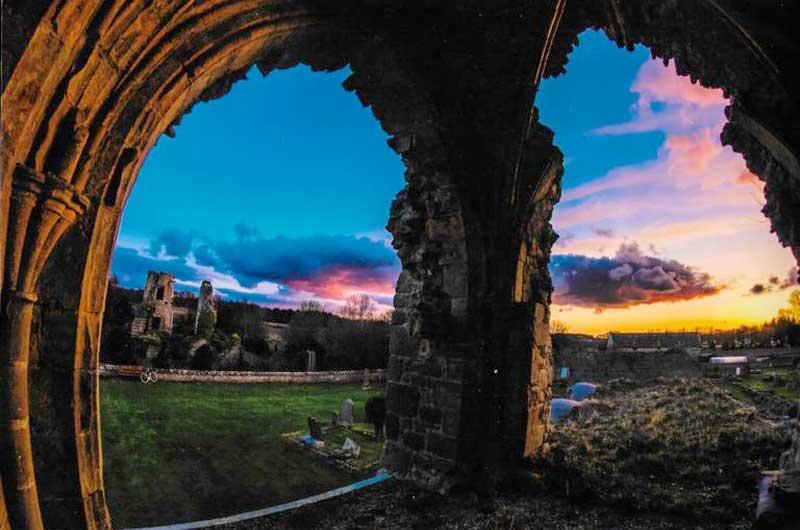 Kinloss Abbey - Sunset